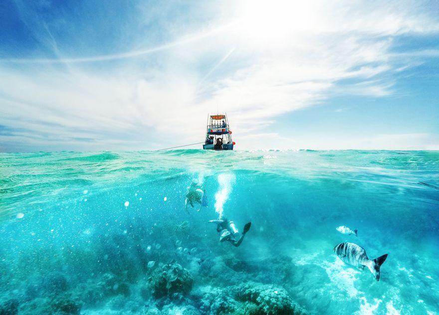 Practicar snorkel y diving en Santa Catalina