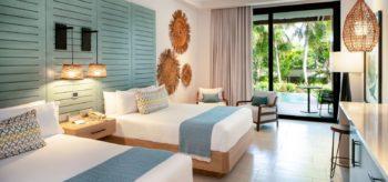 Habitación doble con camas individuales en resort Lopesan Costa Bávaro en Punta Cana