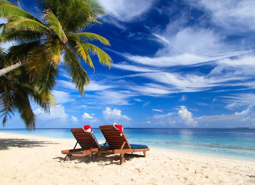 Navidad en una playa del Caribe